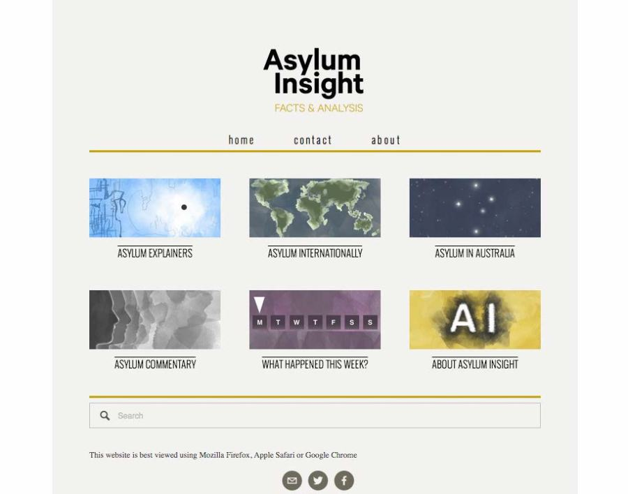 Asylum Insight menu icons