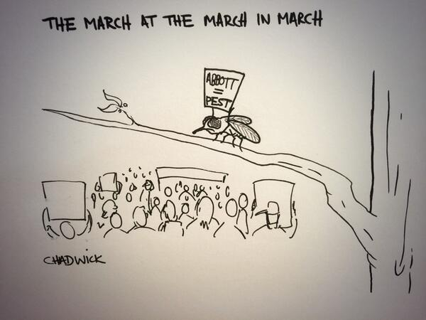 The March at the March in March