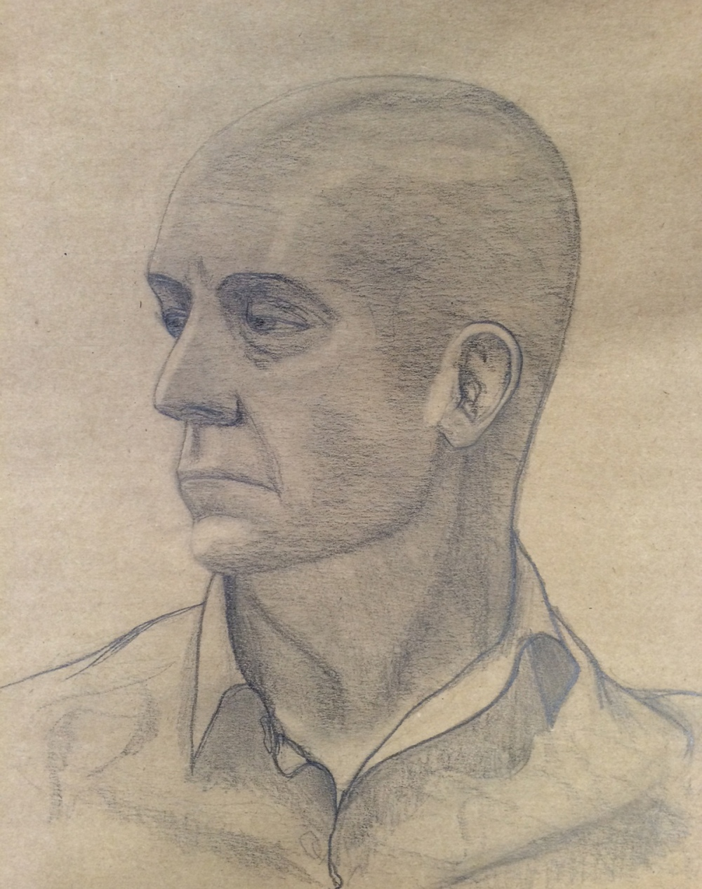 Life drawing - head study