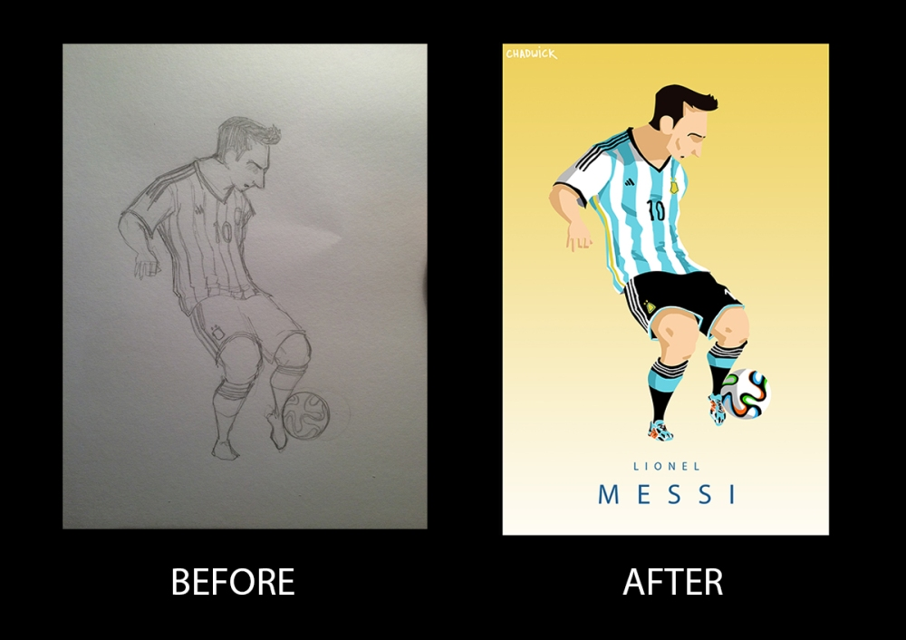 Messi Before and After